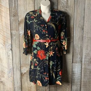 Vintage Clio Hawiian Tropical Button Down Dress L